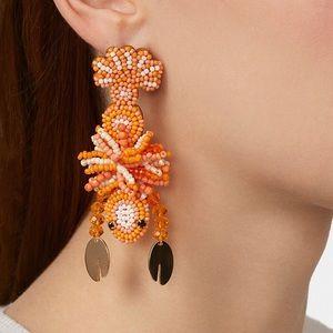 Lobster Drop Earrings